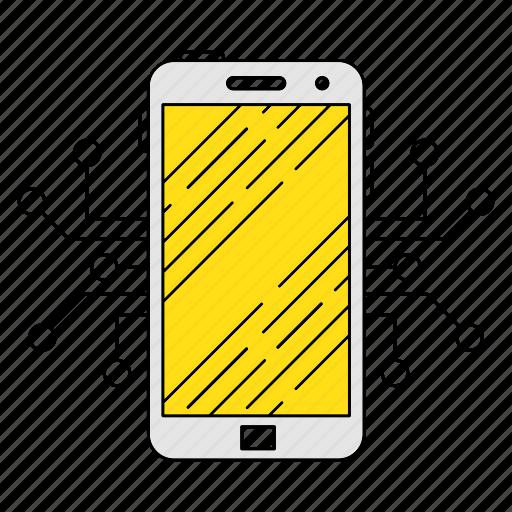 circuit, digital services, marketing, phone, seo, smartphone, technology icon