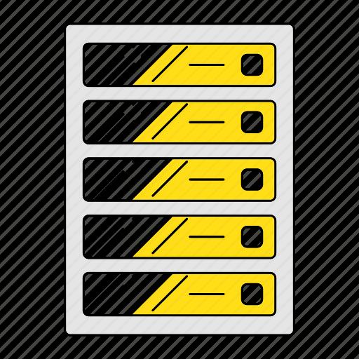 database, digital services, marketing, seo, server, web icon