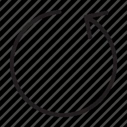 arrow, refresh, reload, replay, reset, restart, rotation icon