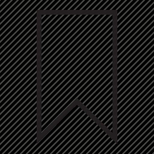 bookmark, favorite, favourite, ribbon, tag icon