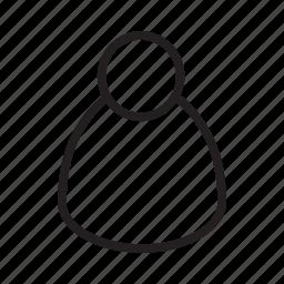 admin, avatar, login, member, person, user, worker icon