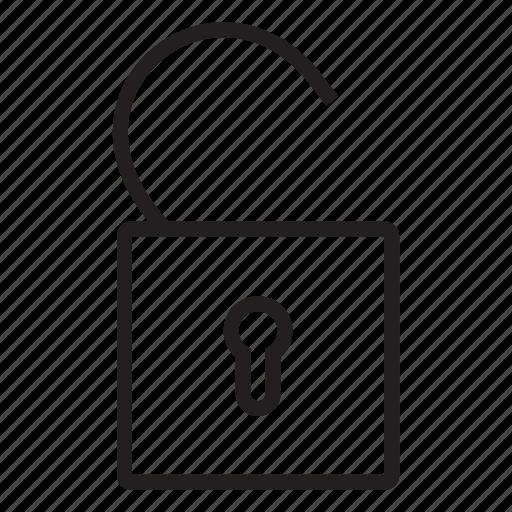 padlock, password, privacy, protection, security, unlock, unlocked icon