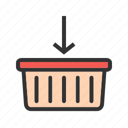 add, basket, grocery, market, shopping, supermarket icon