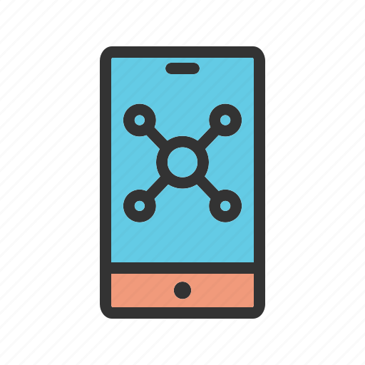 cell, device, gadget, mobile, phone, smart, statistics icon