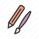 art, brush, design, drawing, paint, paintbrush, pencil icon