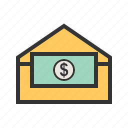 business, dollar, internet, mobile, money, send, technology icon