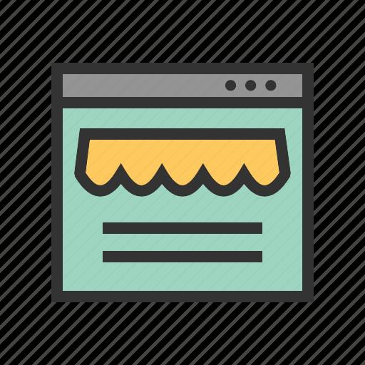 computer, internet, online, shop, shopping, web icon