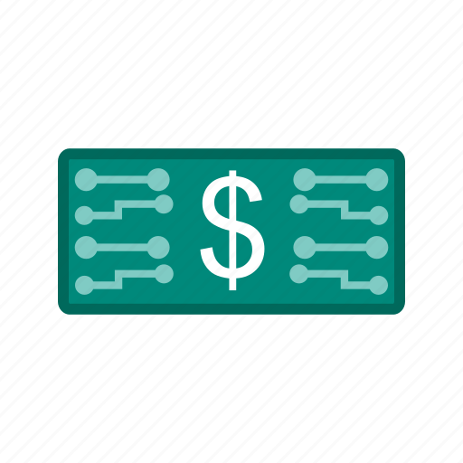 business, currency, digital, electronic, money, stock icon