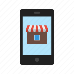 commerce, mobile, online, shop, shopping, smartphone icon