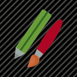 art, brush, design, drawing, paint, paintbrush, pencil icon