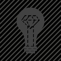 bright, brilliant, creative, creativity, idea, technology icon