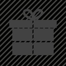 bow, box, christmas, decoration, gift, red, ribbon icon