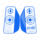 loud, movie, music, play, sound, speaker, voice icon
