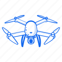 camera, digital, drone, drone camera, electronic, fly icon