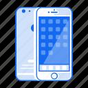 apple, digital, iphone, mobile phone, phone, smartphone icon