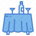 dining, dinner, furniture, room, table icon