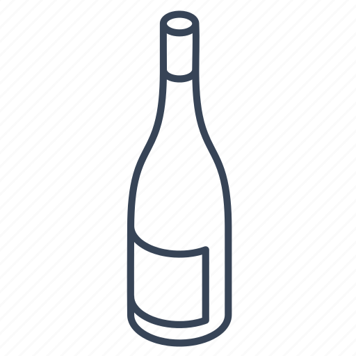 bottle, outline icon
