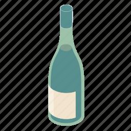 bottle, white, wine icon