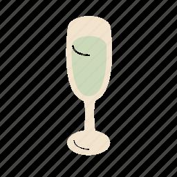 champagne, glass icon