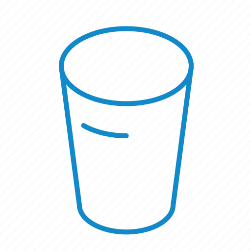 alcohol, beverage, cup, drink, empty, glass, water icon