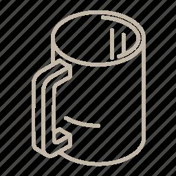 beverage, coffee, cup, drink, empty, hot, mug icon