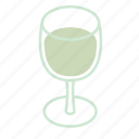 alcohol, beverage, drink, glass, white wine, wine icon