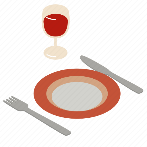 dining, dinner, food, meal, restaurant, setting, table icon