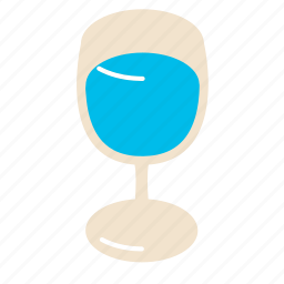 glass, water, wine icon