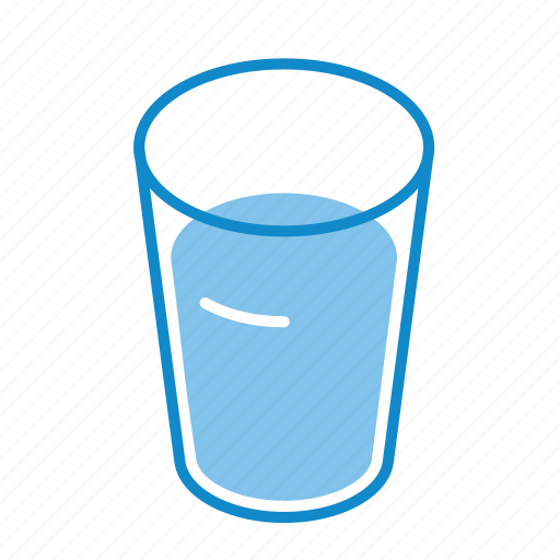 beverage, drink, full, glass, thirst, water icon
