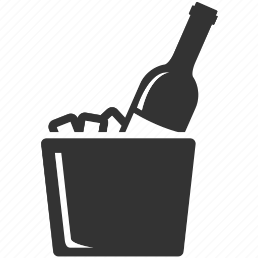 alcohol, bucket, champagne, dinner, drink, wine, wine bucket icon