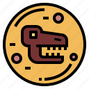 art, dinosaur, fossil, museum icon