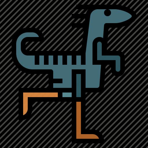 animals, extinct, gallimimus, wildlife icon