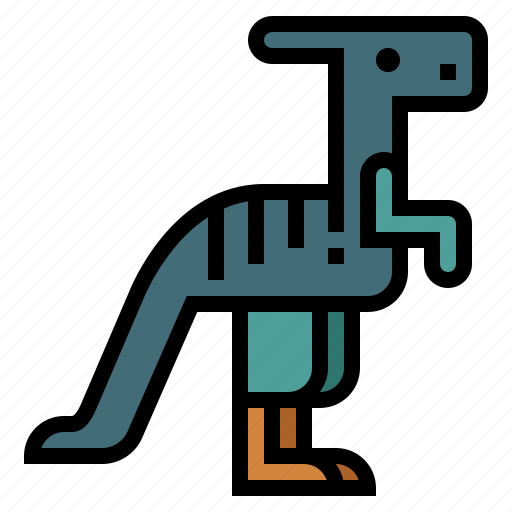 animals, extinct, herbivore, parasaurolophus icon