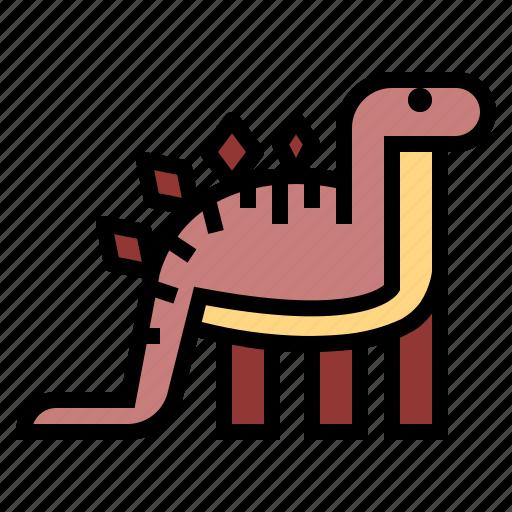 animals, extinct, herbivore, stegosaurus icon