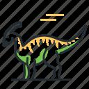 dino, dinosaur, parasaurolophus, species icon
