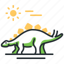 dino, dinosaur, species, stegosaur icon