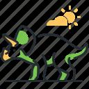 dino, dinosaur, species, triceratops icon