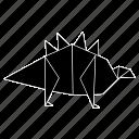 dinosaurs, jurassic, origami, stegosaurus icon