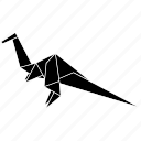 dinosaurs, euoplocephalus, jurassic, origami icon