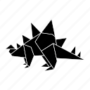 dinosaurs, jurassic, origami icon