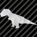 creative, dinosaurs, jurassic, origami, tyrannosaurus icon