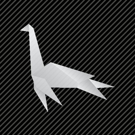 creative, dinosaurs, jurassic, origami, plesiosaurus icon