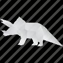 origami, triceratops, creative, jurassic, dinosaurs