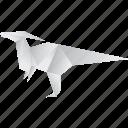 creative, dinosaurs, jurassic, origami icon