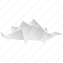 creative, dinosaurs, jurassic, origami, stegosaurus icon