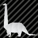 creative, dinosaurs, diplodocus, jurassic, origami icon