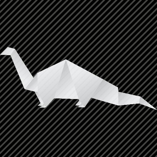 creative, dinosaurs, euoplocephalus, jurassic, origami icon
