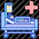 bed, bedridden, hospital icon