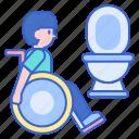 bathroom, disability, toilet icon