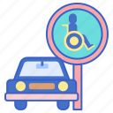 disabled, parking, space icon